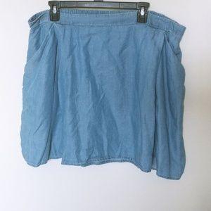 Chambray Mini Skirt XL